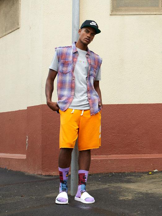 Short-Shirt-Sandalette