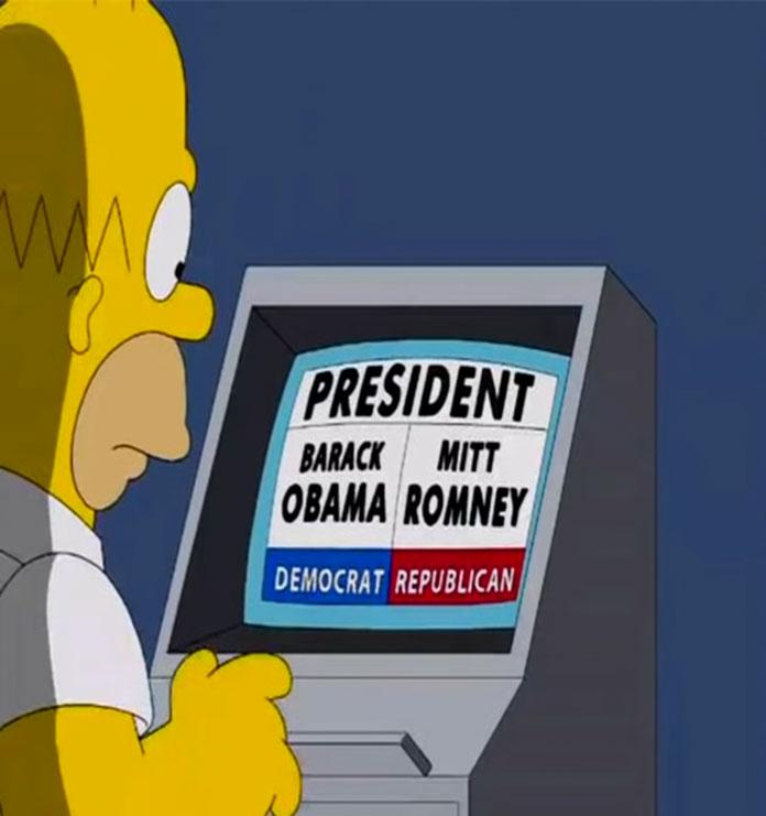Wahlcomputer Simpsons Vorhersagen