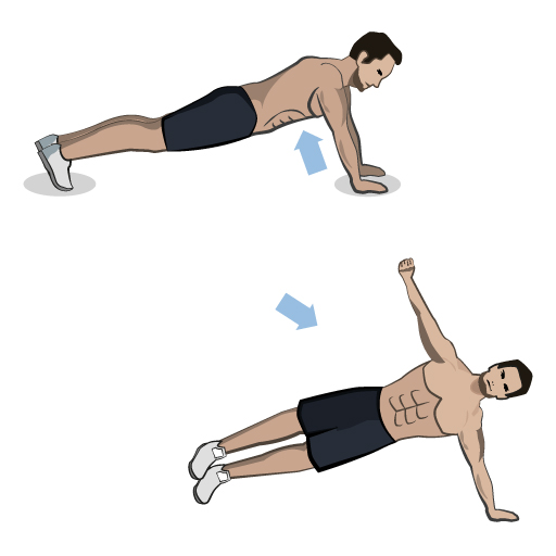 Push-Up Rotation
