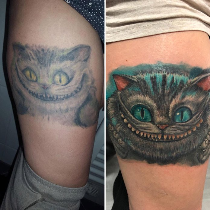 Cover-up Grinsekatze