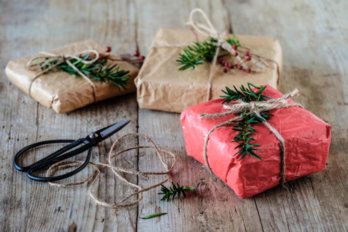 nachhaltig verpackte Geschenke