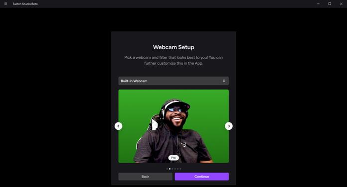 Twitch Studio Webcam Setup