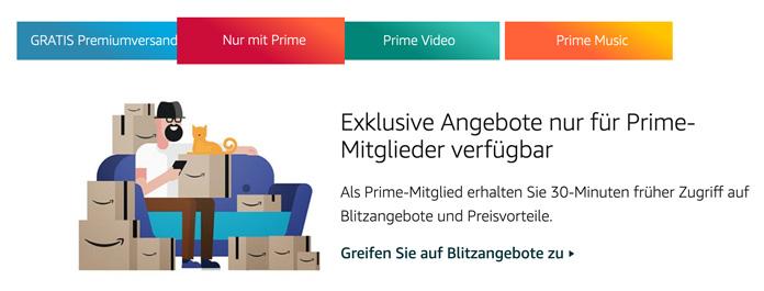 Amazon Prime Angebote und Aktionen