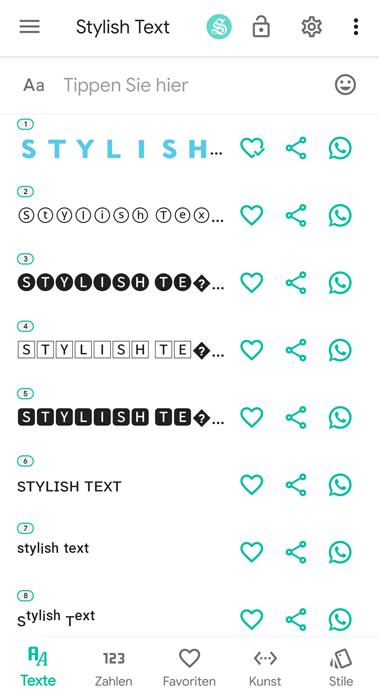 Whatsapp text auf kopf