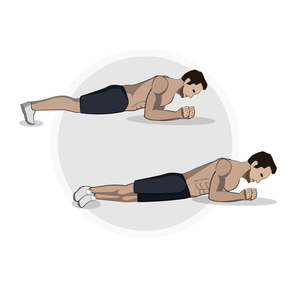 Ganzkörper-Workout Plank Hip Dip