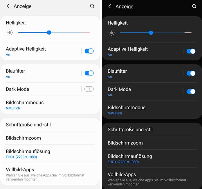 Samsung Note 10 Dark Mode