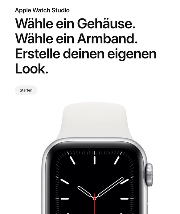 Apple Watch Studio starten