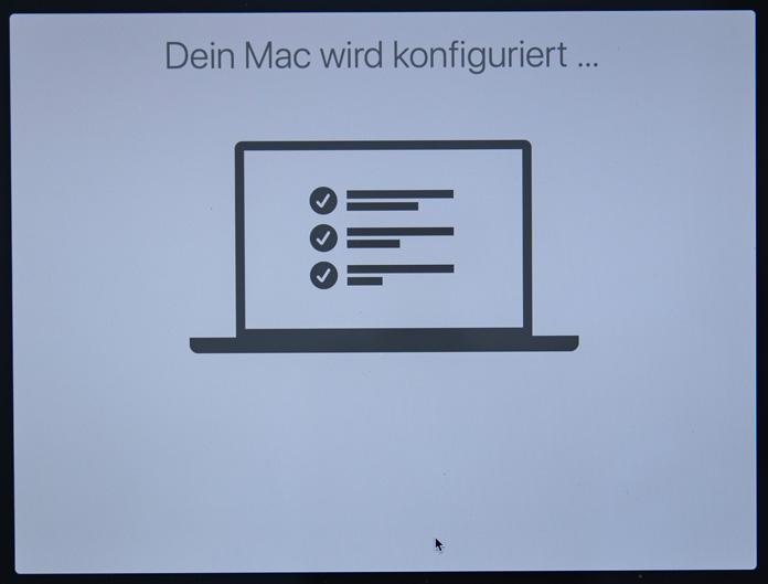 Dein Mac wird konfiguriert