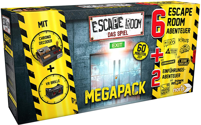 Noris - Escape Room Mega Pack inkl. 6 Fällen, 2 Mini Games und Chrono Decoder