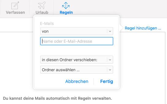 Mail Ordnersteuerung