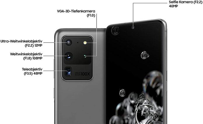 Samsung Galaxy S20 Ultra Kameras
