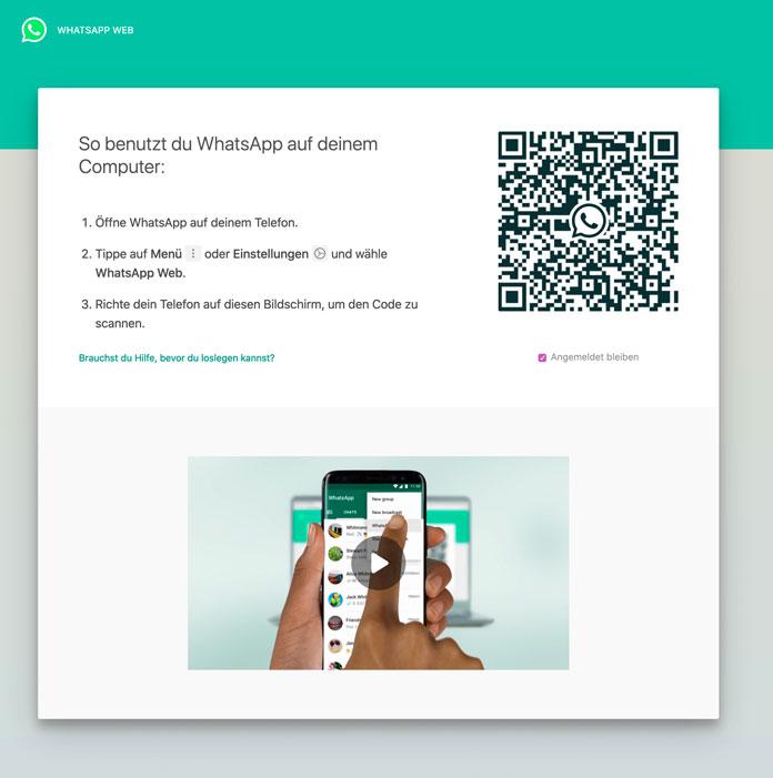 WhatsApp Web Anmeldung