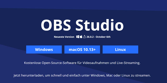 OBS Studio Version 26