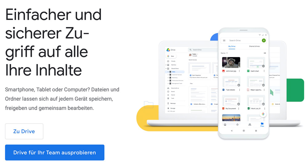 Google Drive Anmeldung