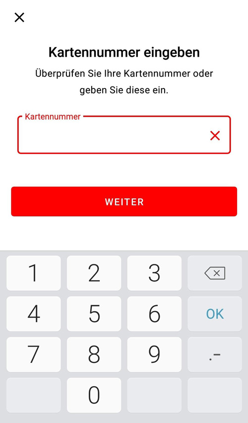 S-ID-Check-App Kartennummer eingeben