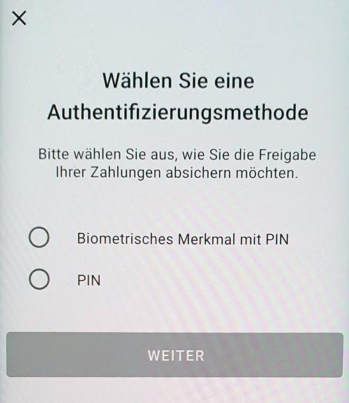 S-ID-Check Registrierung  Authentifizierungsmethode