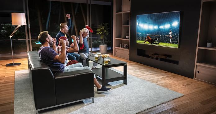 Fußball Abend mit Freunden