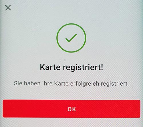 Id nicht karte registriert werden s diese check kann Sicherheit