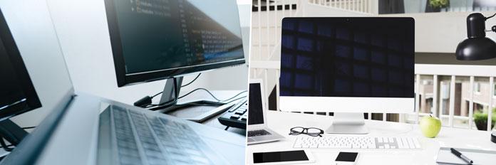 PC oder iMac im Home Office