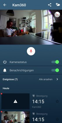 Bosch Smart Home Innenkamera Betrieb