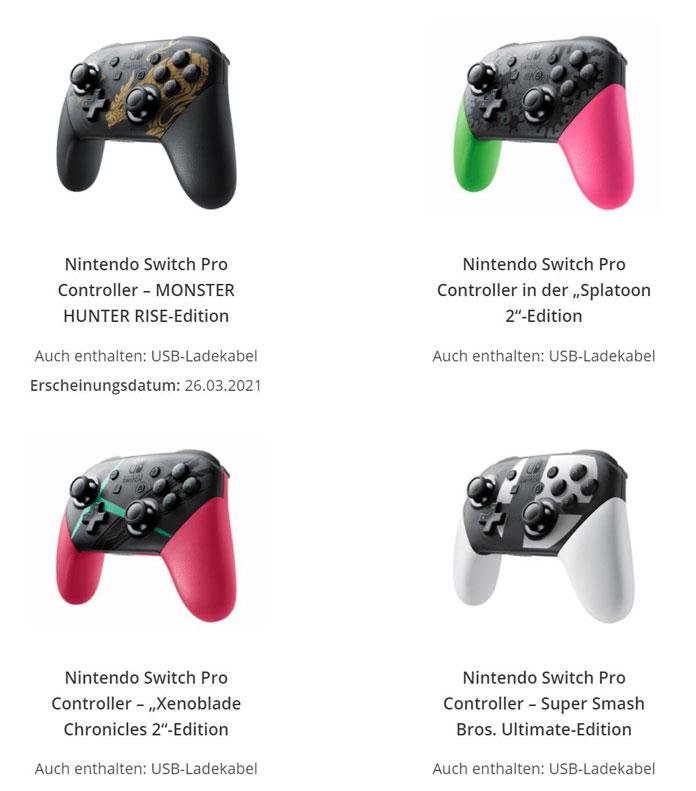 Nintendo Switch Pro Controller Design