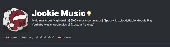 Platz 5 Discord Music Bot