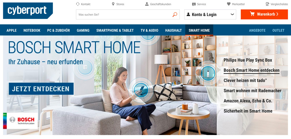 Bosch Smart Home Systeme bei Cyberport