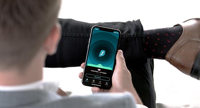 Surfshark auf dem Smartphone