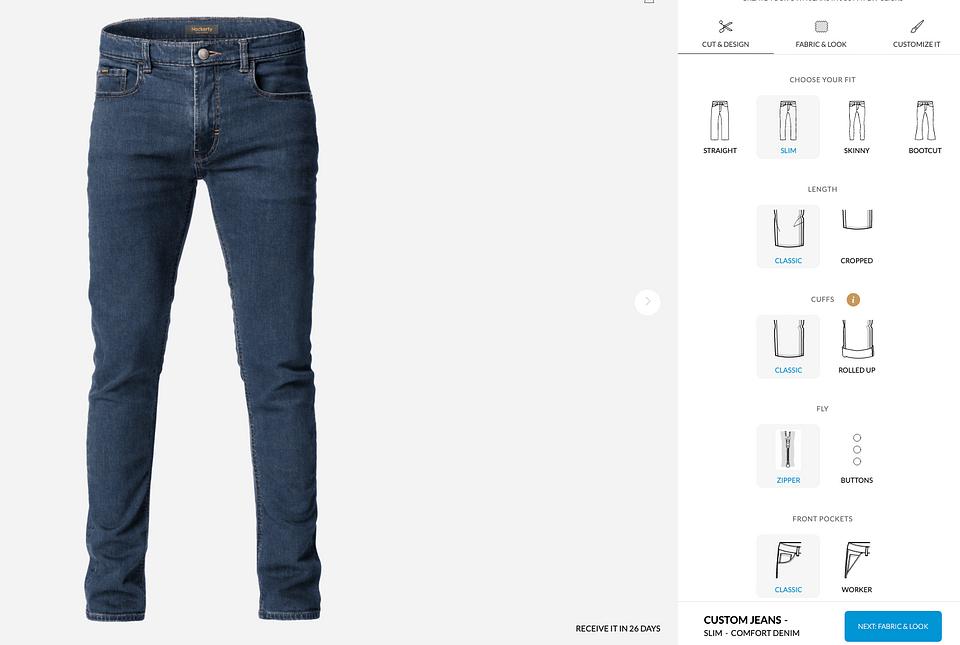Maßgeschneiderte Jeans von Hockerty