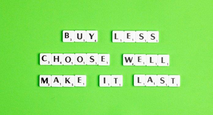 weniger kaufen Umwelt schonen Nachhaltigkeit