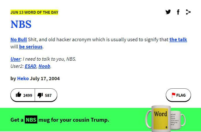 Nützliche Websites Urban Dictionary