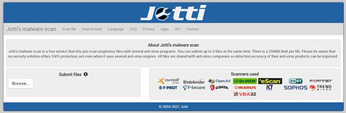 Virus Scan Jotti