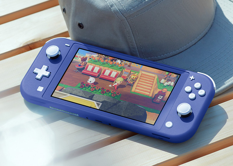 Nintendo Switch Lite in der Farbe Blau