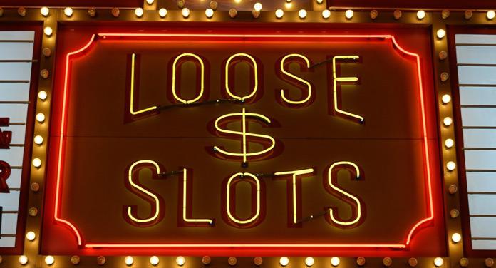 Leuchtreklame im Las-Vegas-Casino-Style