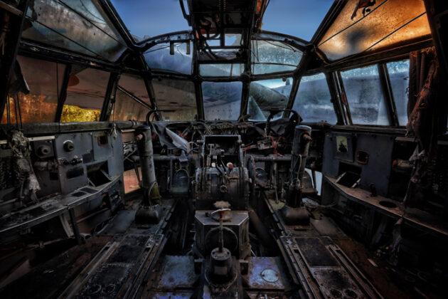 verlassenes Flugzeug