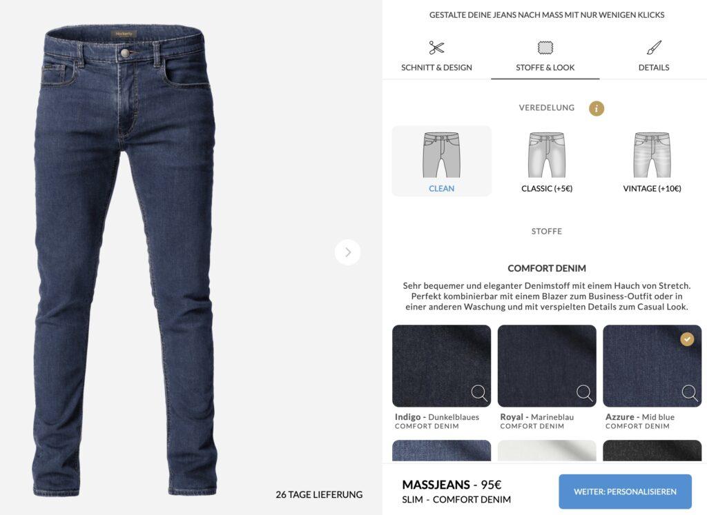 Hockerty Jeans gestalten