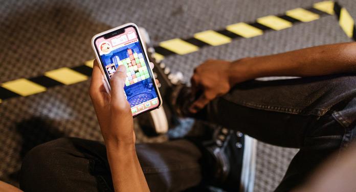 mobile Spiele unterwegs