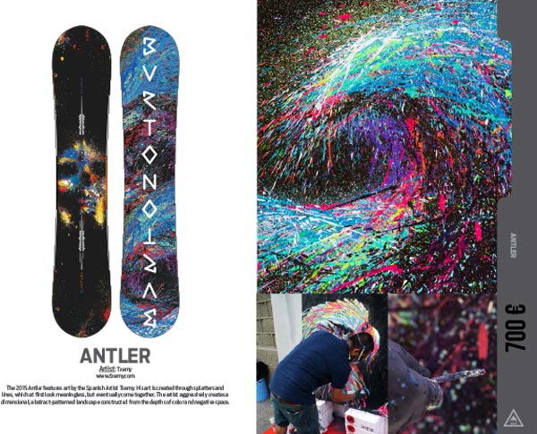 Snowboard Antler