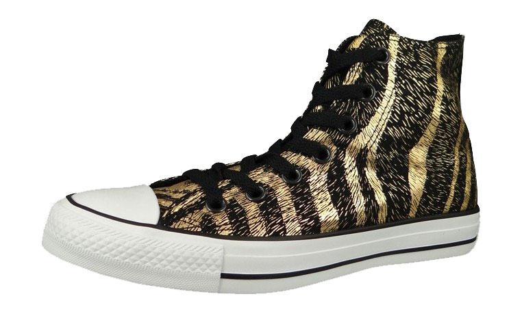 Converse Chucks Animal Print - Sneaker high - black/rich gold