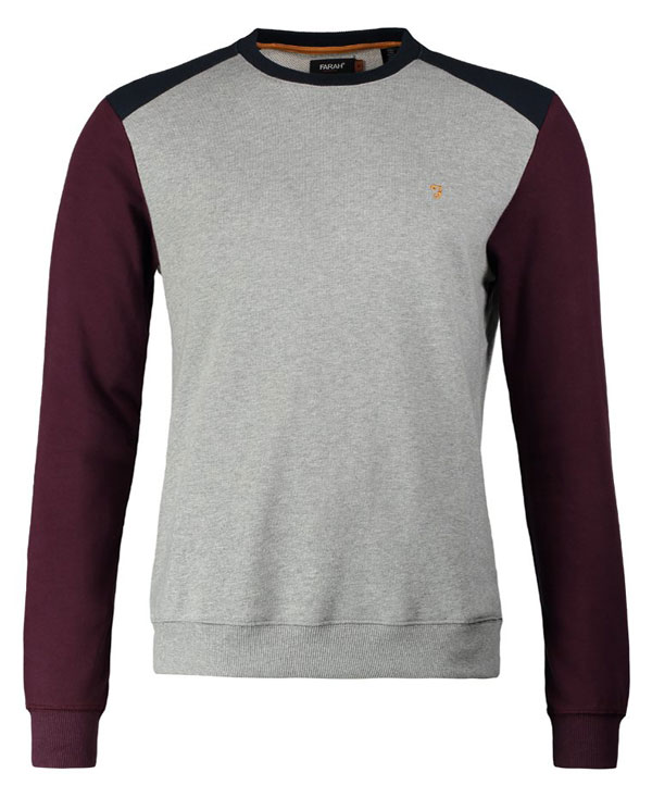 Farah Vintage MURIE - Sweatshirt - bordeaux