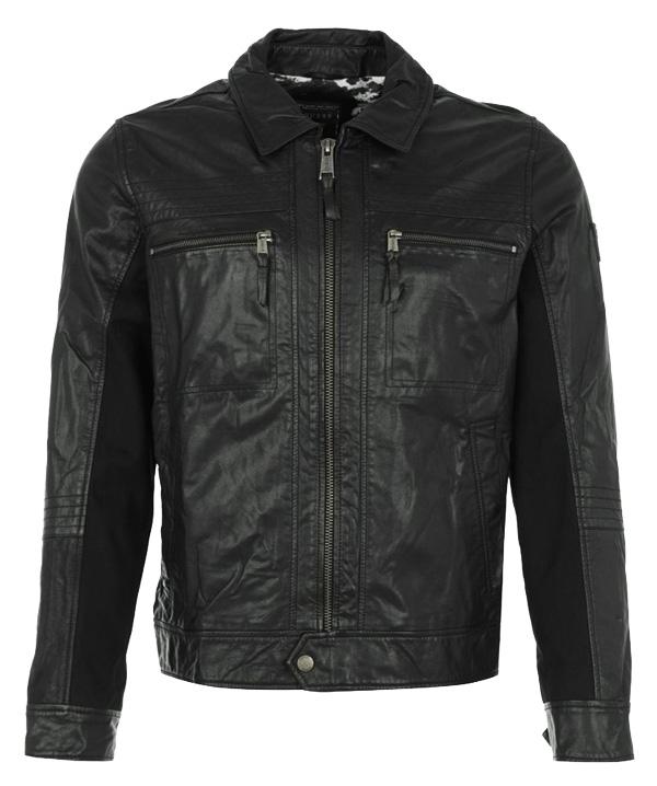 Guess JIM - Lederjacke - noir - 299,95 €