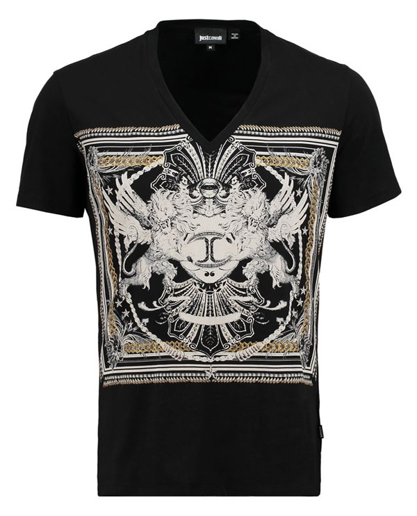 Just Cavalli T-Shirt print - black