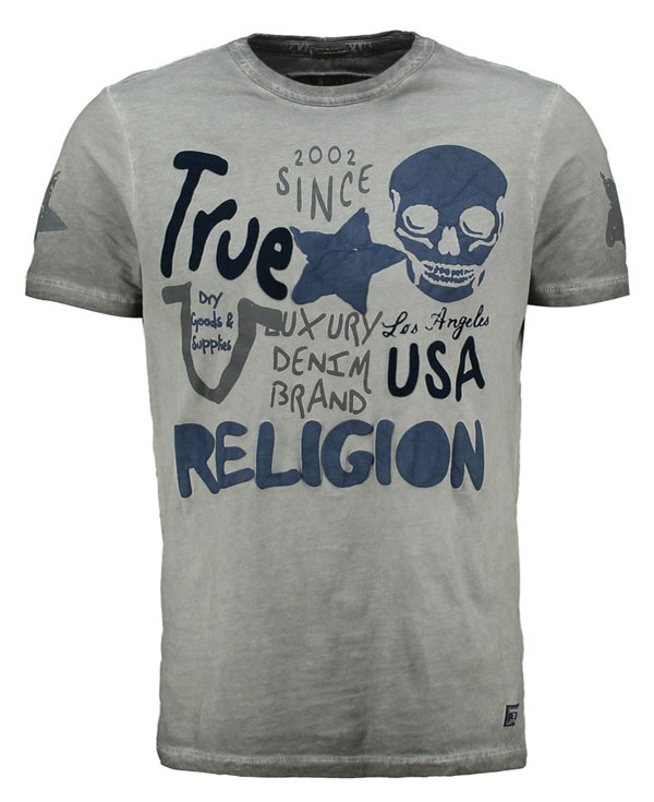 True Religion T-Shirt print - castlerock