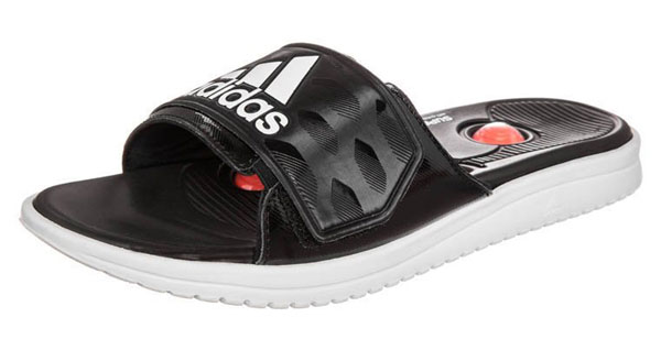 adidas Performance MASSAGE PRO - Badesandale - black/running white/infrared  - 49,95 €