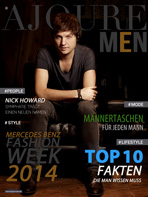 AJOURE Men Cover Monat August 2014 - Nick Howard