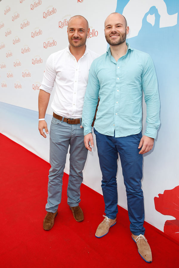 Christian Tews mit seinem Bruder Daniel Tews auf dem Raffaelo Sommer Tag 2014