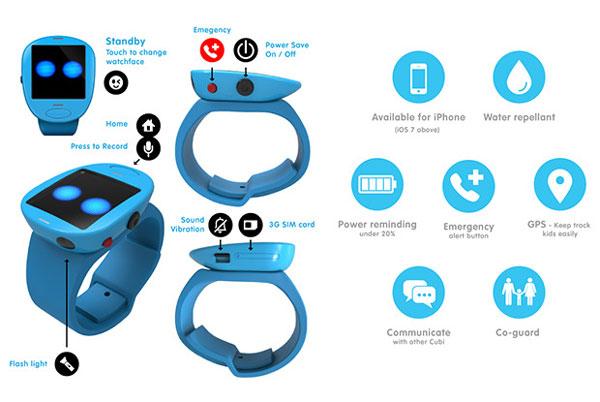 Die Funktionen der Cubi Smartwatch für Kinder