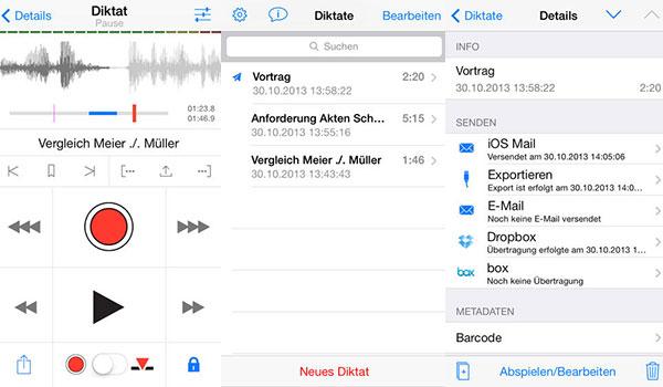 dictate connect app diktiergeraet