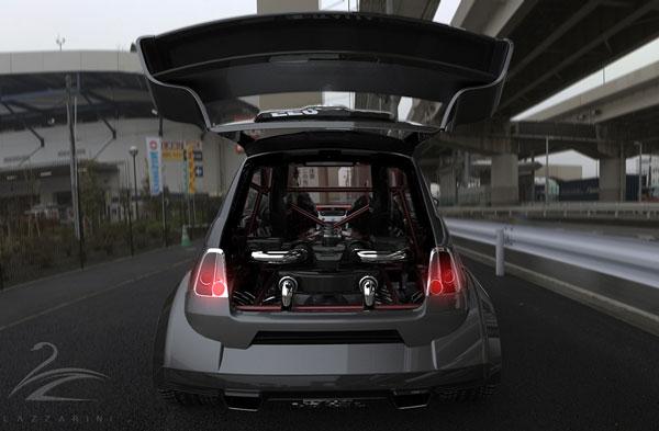 FIAT 550 mit offener Heckklappe