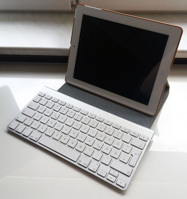 ipad als laptop mit bluetooth tastatur